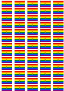 Argentina Gay Pride Flag Stickers - 65 per sheet
